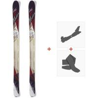 Ski Nordica Wild Belle 2015 + Fixations de ski randonnée + Peaux0A423000.001