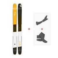 Ski Amplid The Hill Bill 2017 + Fixations de ski randonnée + PeauxA-160207