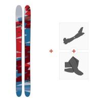 Ski Amplid Rockwell 2017 + Fixations de ski randonnée + PeauxA-160204