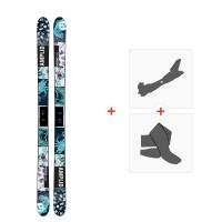 Ski Amplid Provoke 2017 + Fixations de ski randonnée + PeauxA-160203