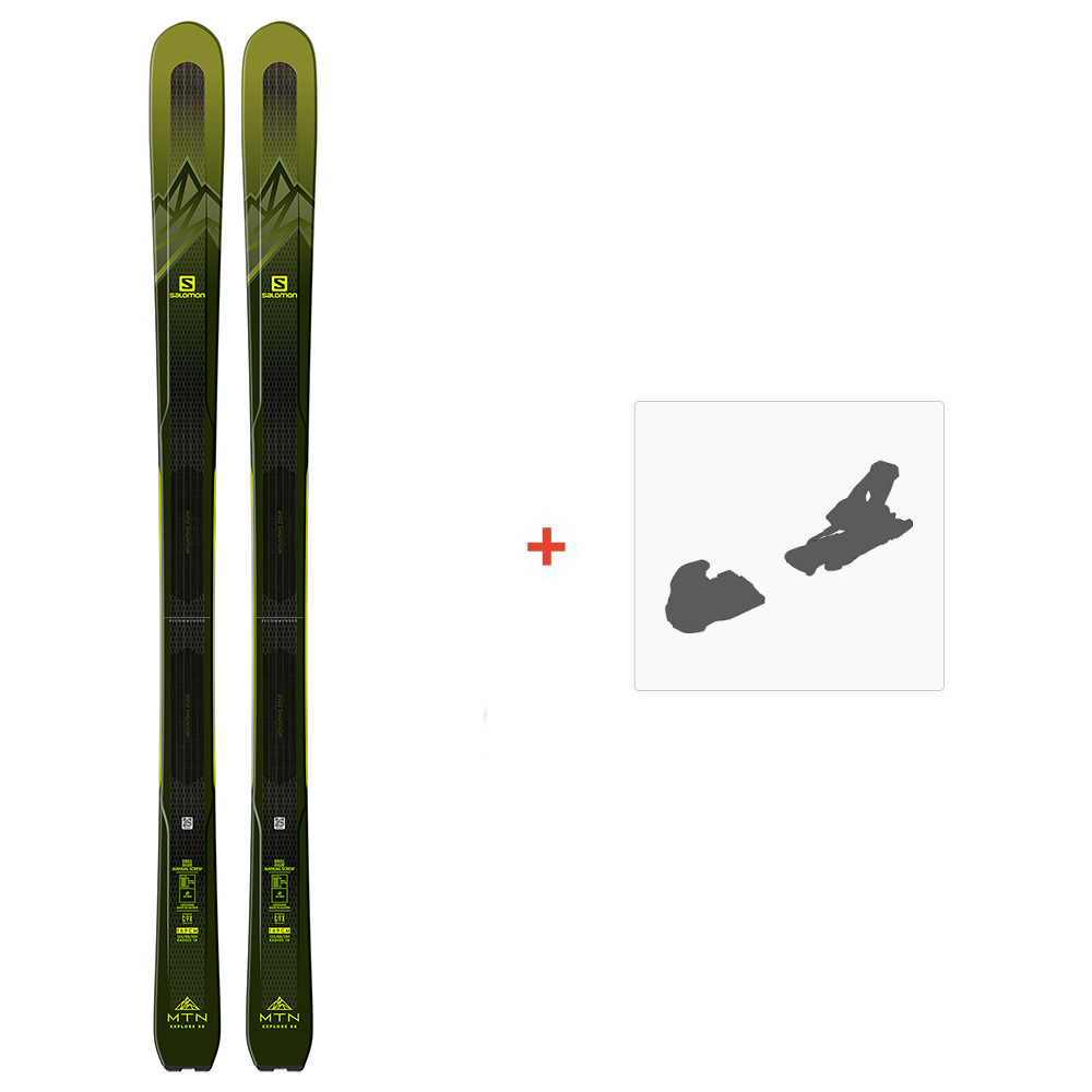 SALOMON MTN EXPLORE 88 W BLUEBLUE 2020 + MARKER KINGPIN 10 75 100MM BLACKCOOPER 2020 29% sur Achat Ski