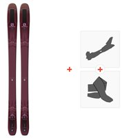 Ski Salomon N QST Lumen 99 2019 + Fixations de ski randonnée + Peaux
