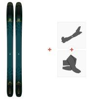 Ski Salomon N QST 118 2019 + Fixations de ski randonnée + Peaux