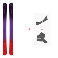 Ski Atomic Vantage Girl 110-130 Pr/Red 2019 + Fixations de ski randonnée + PeauxAA0027244