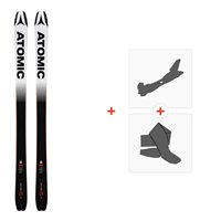 Ski Atomic Backland 85 UL Black/White 2019 + Fixations de ski randonnée + PeauxAA0026638
