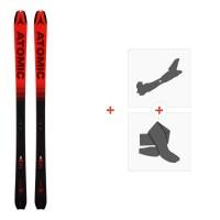 Ski Atomic Backland 78 UL Black/Redl 2019 + Fixations de ski randonnée + PeauxAA0026638