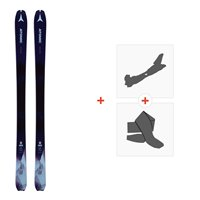Ski Atomic Backland WMN 78 Dark Blue/Bl 2019 + Fixations de ski randonnée + PeauxAA0027174