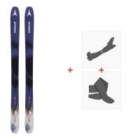 Ski Atomic Backland WMN 102 Blue/White 2019 + Fixations de ski randonnée + PeauxAA0027354