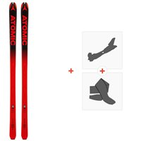 Ski Atomic Backland 65 UL Red/Black 2019 + Fixations de ski randonnée + PeauxAA0027206