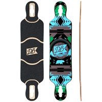 "DB Longboards Urban Native Blue and Green 38"" - Deck Only 2018"