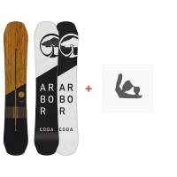 Snowboard Arbor Coda Rocker 2019 + Fixations de snowboard11915F18