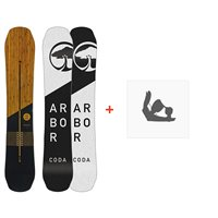 Snowboard Arbor Coda Rocker 2019 + Snowboard Bindungen11915F18