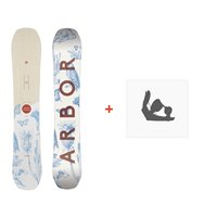 Snowboard Arbor Swoon Camber 2019 + Fixations de snowboard11932F18