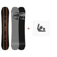 Snowboard Arbor Wasteland 2019 + Fixations de snowboard11917F18