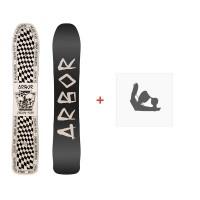 Snowboard Arbor Zygote Twin 2019 + Fixations de snowboard11903F18