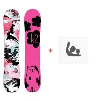 Snowboard K2 Lil Kat 2019 + Snowboard Bindungen11B0060.1