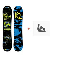 Snowboard K2 Mini Turbo 2019 + Fixations de snowboard11B0059.1