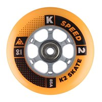 K2 90 mm Wheel 8-PACK ORANGE  / ILQ 9 Alu Spacer 2017