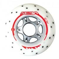 Seba Wheel Sparkling Wheels 85A Pack X4 White 2019