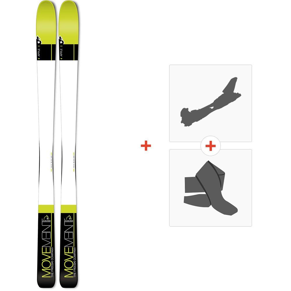 Movement Apple 80 2019 + Fixations de ski randonnée + PeauxMOV-A-18044