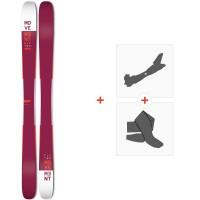Movement Fly Two 105 2019 + Fixations de ski randonnée + PeauxMOV-A-18031
