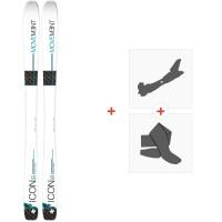 Ski Movement Icon 89 W 2019 + Fixations de ski randonnée + PeauxMOV-A-18010
