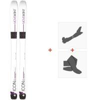 Ski Movement Icon 95 W 2019 + Fixations de ski randonnée + PeauxMOV-A-18011