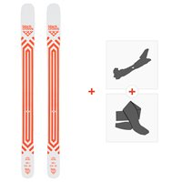 Ski Black Crows Atris Birdie 2020 + Fixations de ski randonnée + Peaux101028