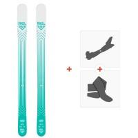 Ski Black Crows Captis Birdie 2020 + Fixations de ski randonnée + Peaux101034