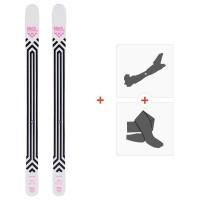 Ski Black Crows Corvus 2020 + Fixations de ski randonnée + Peaux101012