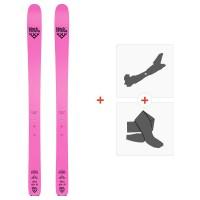 Ski Black Crows Corvus Freebird 2020 + Fixations de ski randonnée + Peaux101016