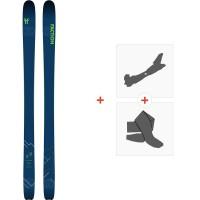Ski Faction Agent 1.0 2020 + Fixations de ski randonnée + PeauxFCSK20-AG10-ZZ
