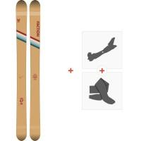 Ski Faction Candide 4.0 2020 + Fixations de ski randonnée + PeauxFCSK20-CT40-ZZ