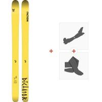 Ski Faction Dictator 4.0 2020 + Fixations de ski randonnée + PeauxFCSK20-DT40-ZZ