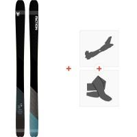 Ski Faction Prime 2.0 2020 + Fixations de ski randonnée + PeauxFCSK20-PM20-ZZ