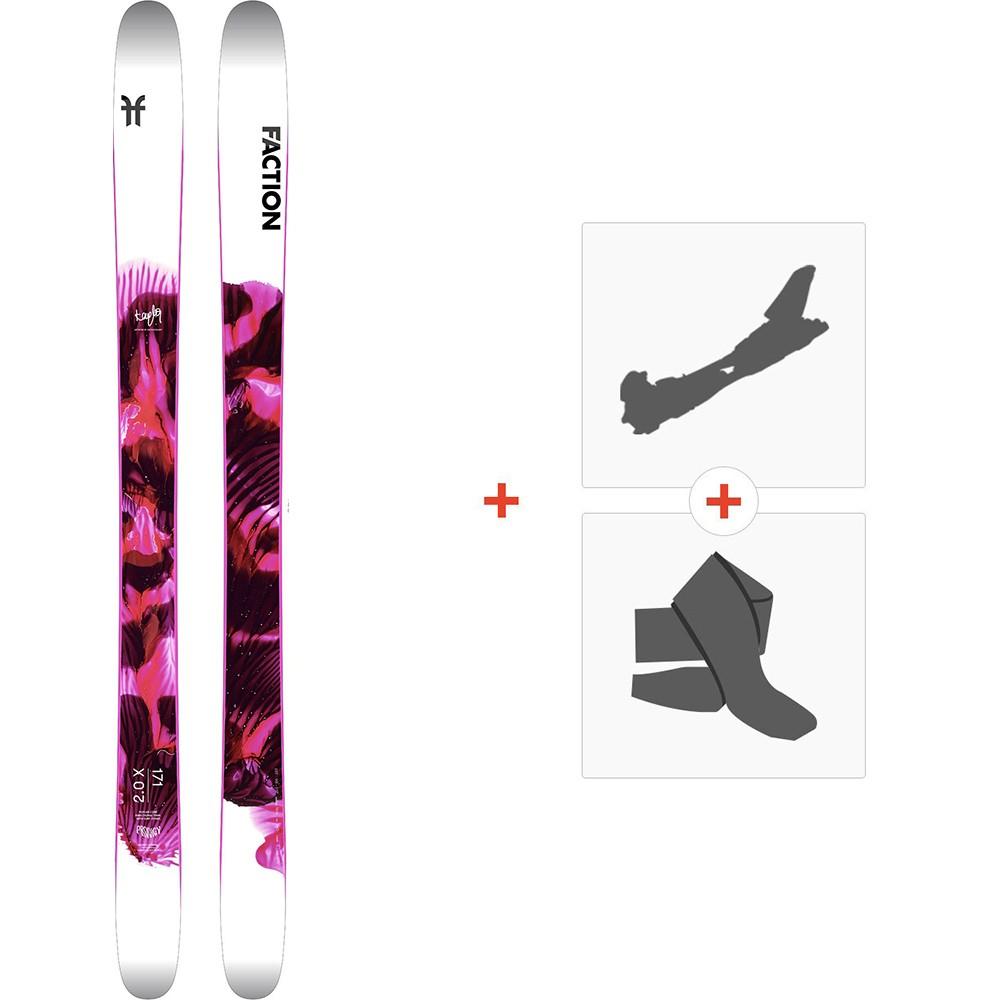 Ski Faction Prodigy 2.0 x 2020 + Fixations de ski randonnée + PeauxFCSK20-PR2X-ZZ