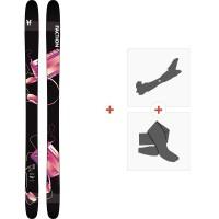 Ski Faction Prodigy 3.0 2020 + Fixations de ski randonnée + PeauxFCSK20-PR3Z-ZZ