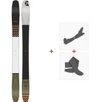 Ski Amplid Multiplayer 108 2020 + Fixations de ski randonnée + Peaux