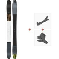 Ski Amplid Superplayer 102 2020 + Fixations de ski randonnée + Peaux