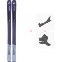 Ski Atomic Vantage Wmn 90 TI Antracite 2020+ Fixations de ski randonnée + PeauxAA0027744