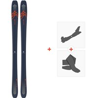 Salomon N Qst 85 Blue/Orange 2020 + Fixations de ski randonnée + PeauxL40854300