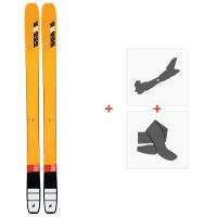 Ski K2 Mindbender 108 TI 2020 + Fixations de ski randonnée + Peaux10D0101.101.1