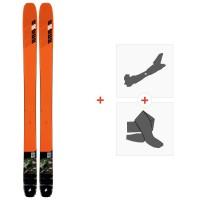 Ski K2 Mindbender 116 C 2020 + Fixations de ski randonnée + Peaux10D0100.101.1
