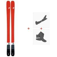 Ski K2 Mindbender 90 C 2020 + Fixations de ski randonnée + Peaux10D0104.101.1