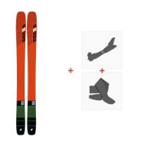 Ski K2 Mindbender Team 2020 + Fixations de ski randonnée + Peaux10D0800.101.1