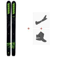 Ski K2 Pon200n 2020 + Fixations de ski randonnée + Peaux10D0200.101.1