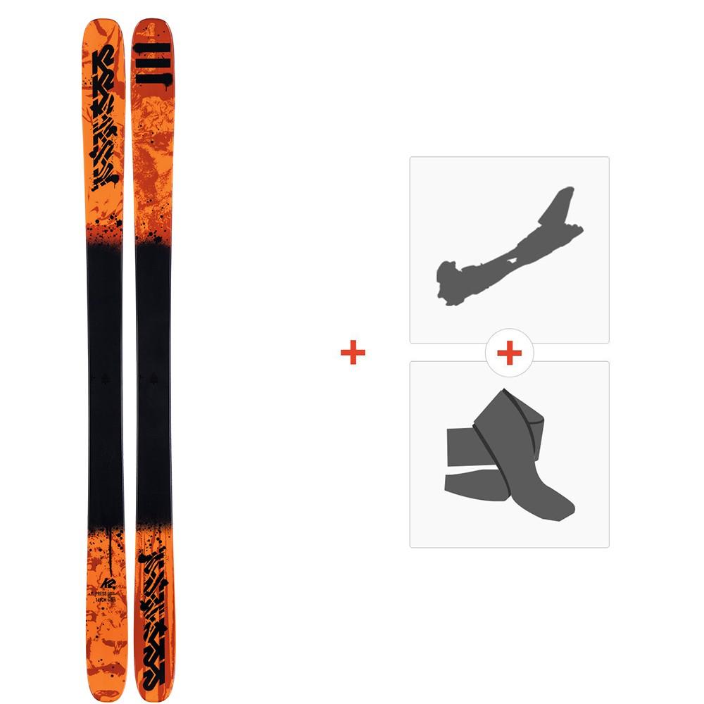 Ski K2 Press 2020 + Fixations de ski randonnée + Peaux10D0304.101.1