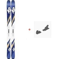 Ski K2 Talkback 84 2020 + Fixations de ski10C0602.101.1