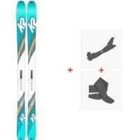 Ski K2 Talkback 88 Ecore 2020 + Fixations de ski randonnée + Peaux10C0601.101.1