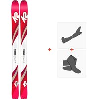 Ski K2 Talkback 96 2020 + Fixations de ski randonnée + Peaux10C0600.101.1